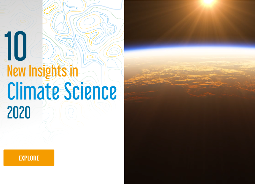 10 Insights in Climate Science 2020