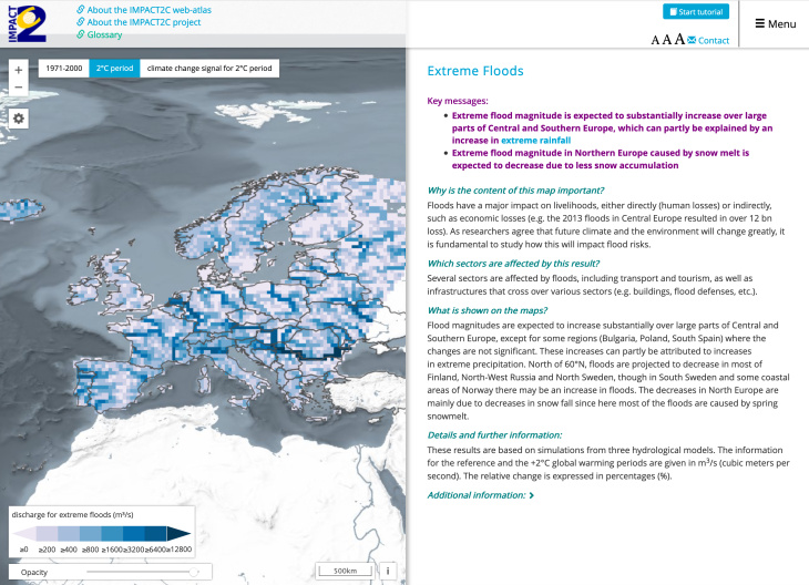 Screenshot I2C Web-Atlas Extreme Floods