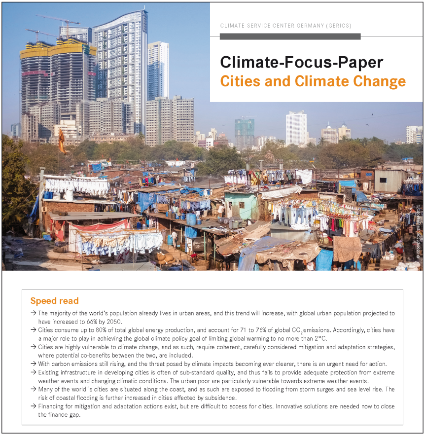 Cover Climate Focus Paper Cities